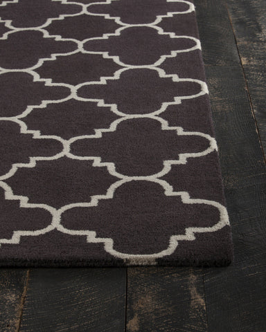 Davin Collection Hand-Tufted Area Rug in Brown & White design by Chandra rugs