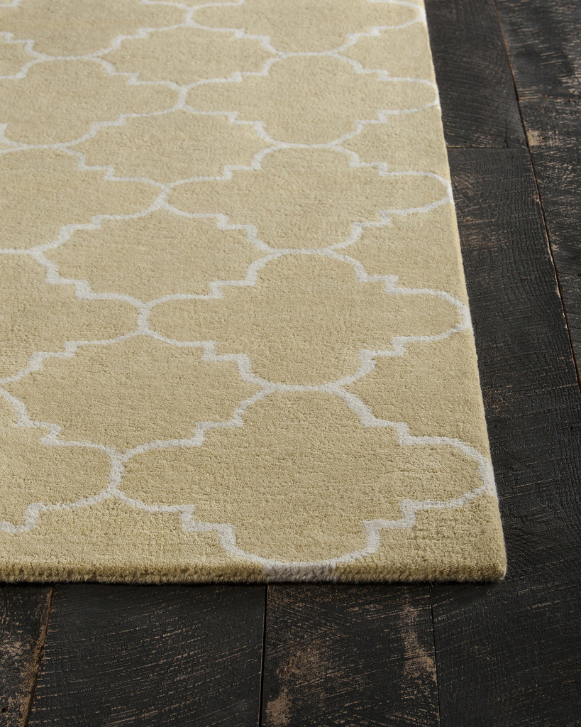 davin collection hand tufted area rug in yellow white design by chan burke decor. Black Bedroom Furniture Sets. Home Design Ideas