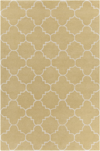 Davin Collection Hand-Tufted Area Rug in Yellow & White