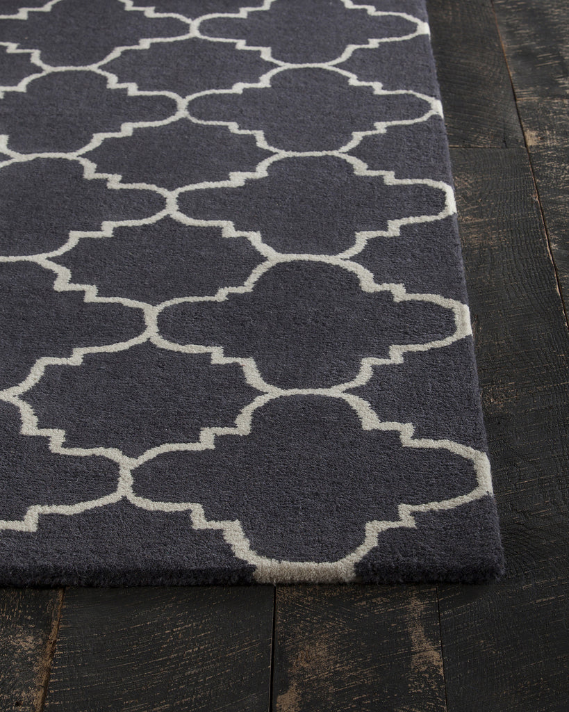 Davin Collection Hand-Tufted Area Rug in Charcoal & White design by Chandra rugs