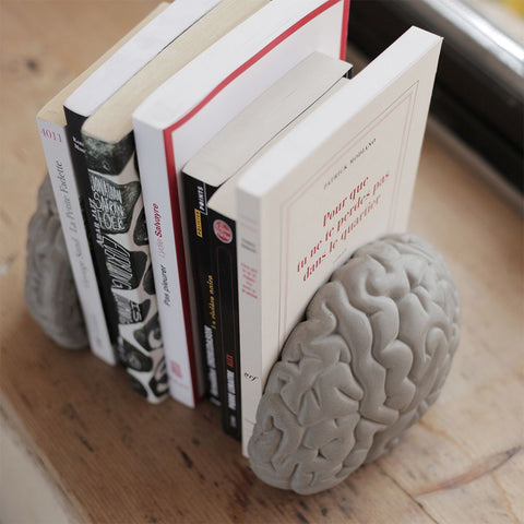Low Tech - Gray Matters Book Ends by Lyon Béton