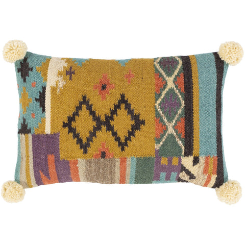 Darcy DCY-002 Hand Woven Lumbar Pillow in Multi-Color by Surya