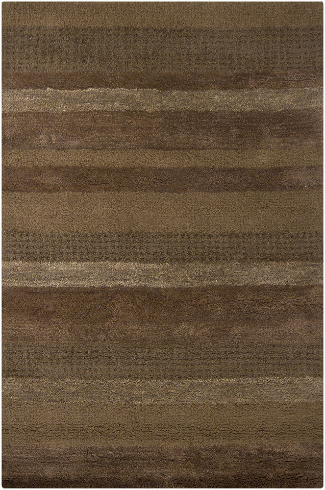 Dejon Collection Hand-Tufted Area Rug in Charcoal, Taupe, & Brown