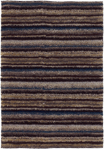 Delight Collection Hand-Woven Area Rug in Taupe, Blue, & Black design by Chandra rugs