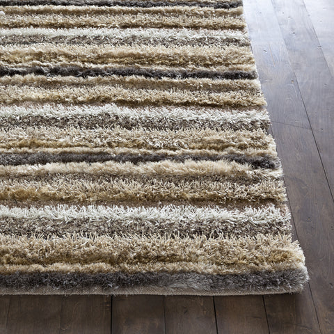 Delight Collection Hand-Woven Area Rug in Brown, Taupe, Ivory, & Gold design by Chandra rugs