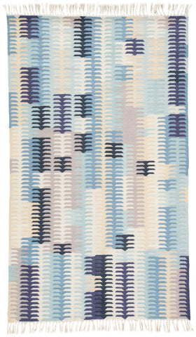 Carver Indoor/ Outdoor Abstract Blue & Gray Area Rug design by Jaipur