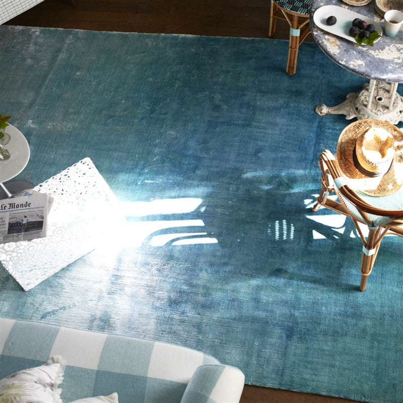 Eberson Aqua Area Rug design by Designers Guild
