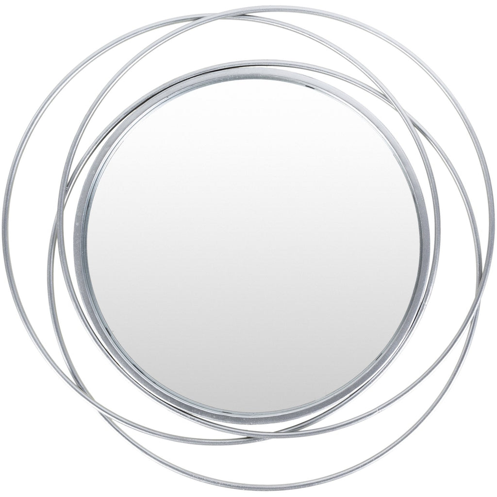 Dixie DII-001 Round Mirror in Silver by Surya