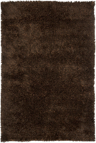Dior Collection Hand-Woven Area Rug in Brown & Black