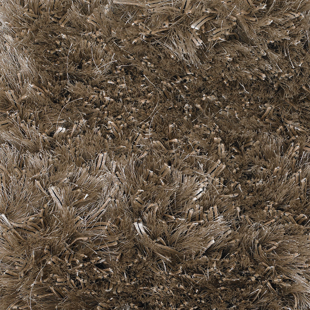 Dior Collection Hand-Woven Area Rug in Taupe & Black