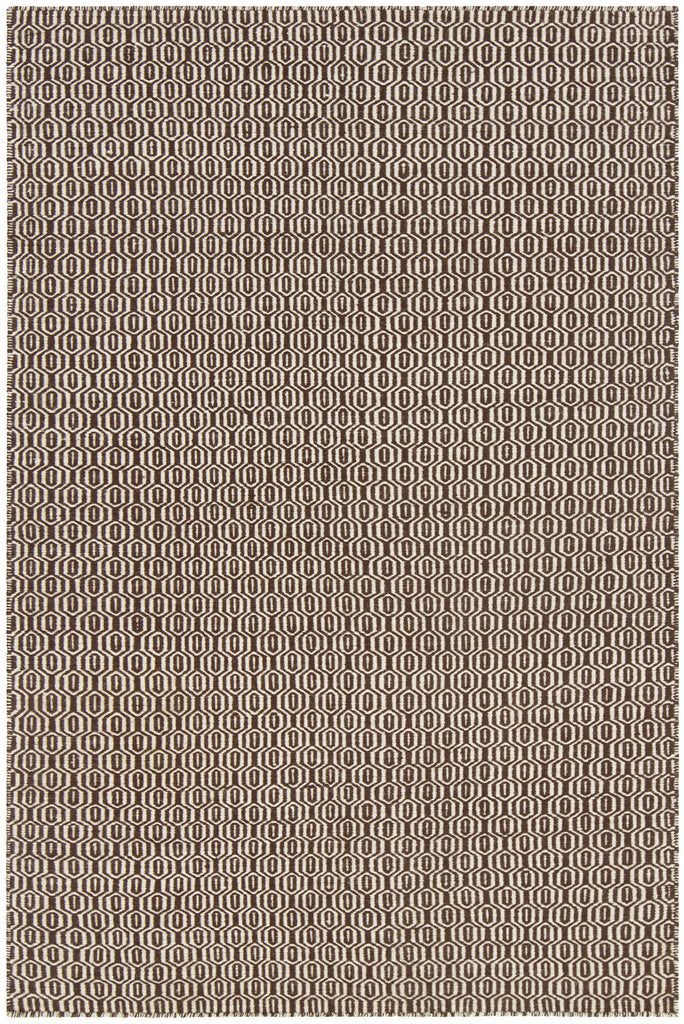 Diva Collection Flatweave Area Rug in Cream & Brown design by Chandra rugs