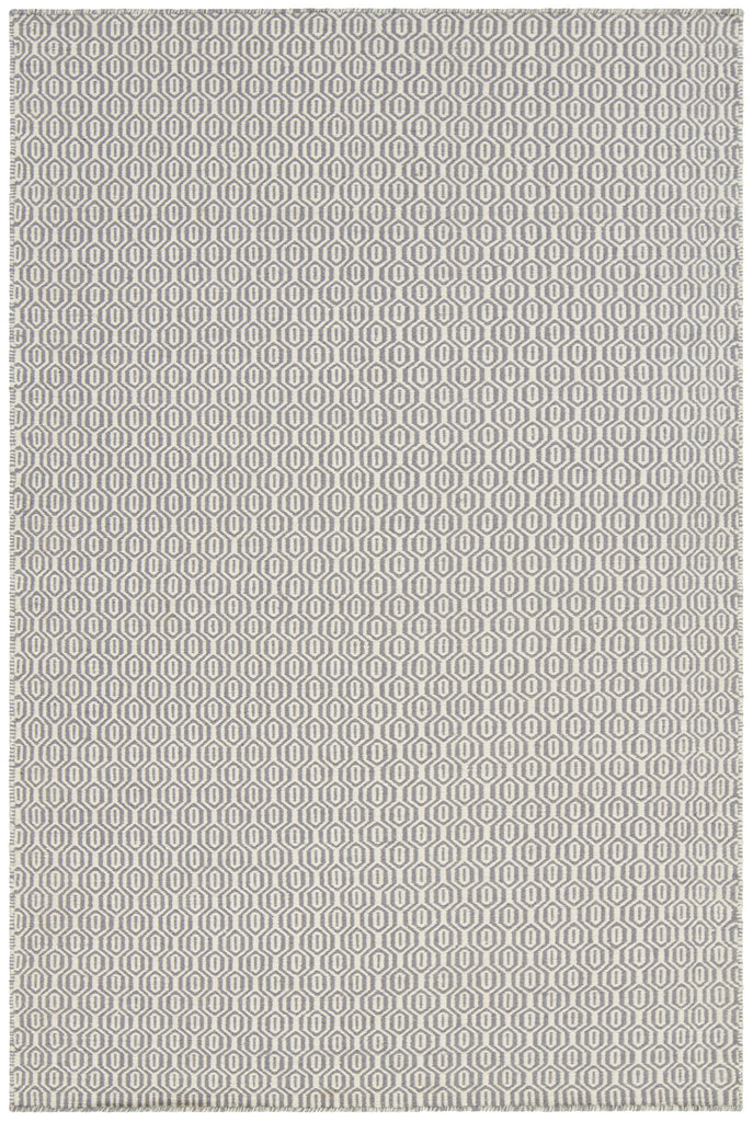 Diva Collection Flatweave Area Rug in Cream & Grey design by Chandra rugs