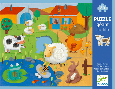 Giant Floor Puzzles Tactile Farm