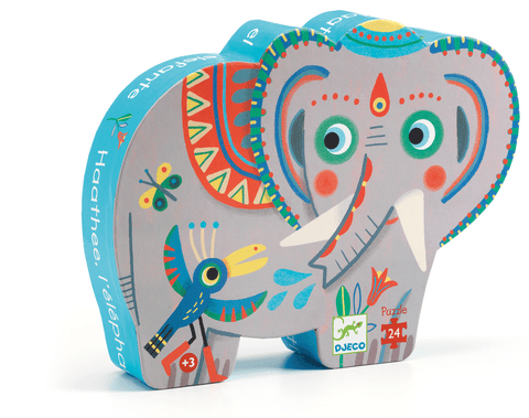 Silhouette Puzzles Haathee, Asian Elephant design by DJECO