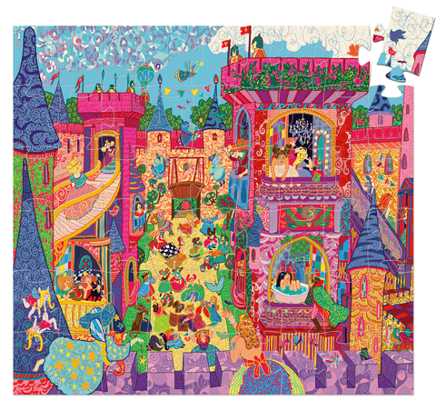 Silhouette Puzzles The Fairy Castle design by DJECO