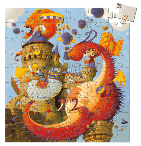 Silhouette Puzzles Vaillant And The Dragon design by DJECO