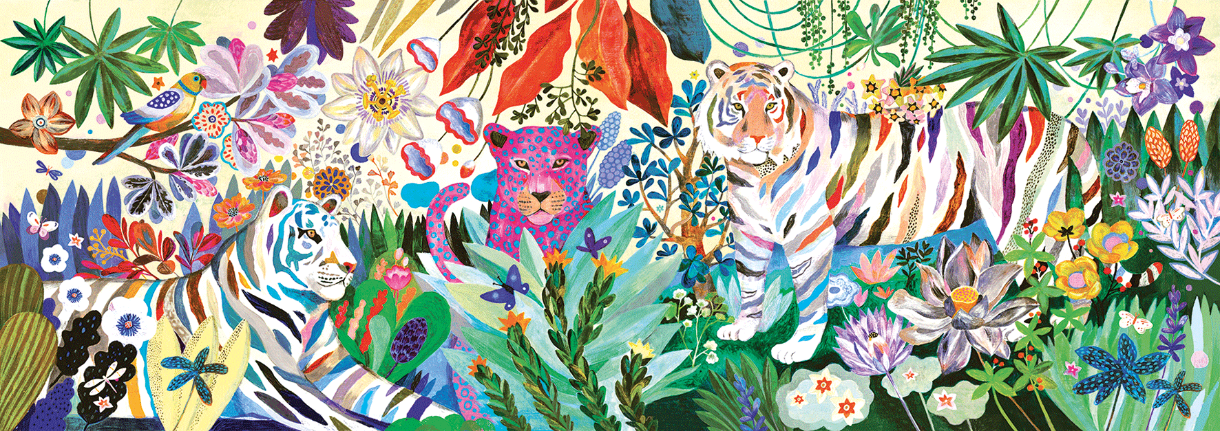 Gallery Puzzles Rainbow Tigers