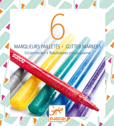 Art Supplies 6 Glitter Markers