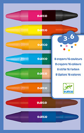 Art Supplies 8 Twin Crayons