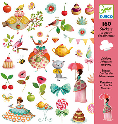Petit Gifts Stickers Princess Tea Party