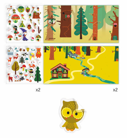 Petit Gift Sticker Stories The Magical Forest