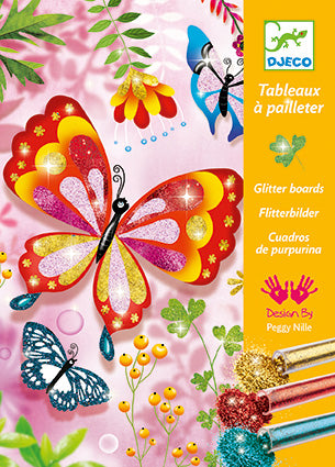 Le Grand Artist Glitter Boards Glitter Butterflies