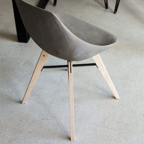 Hauteville - Chair With Plywood Feet by Lyon Béton