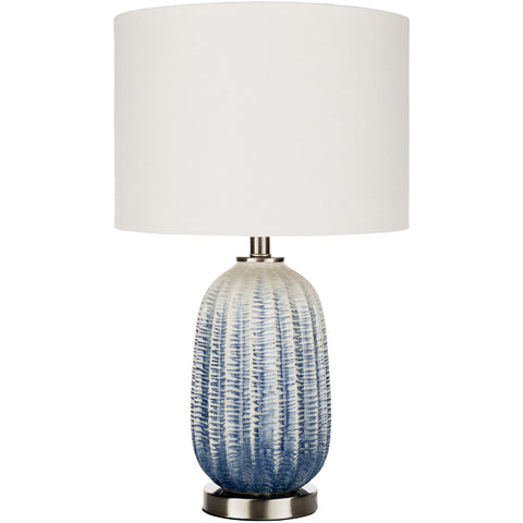 Adler DLE-001 Table Lamp in Navy & White by Surya