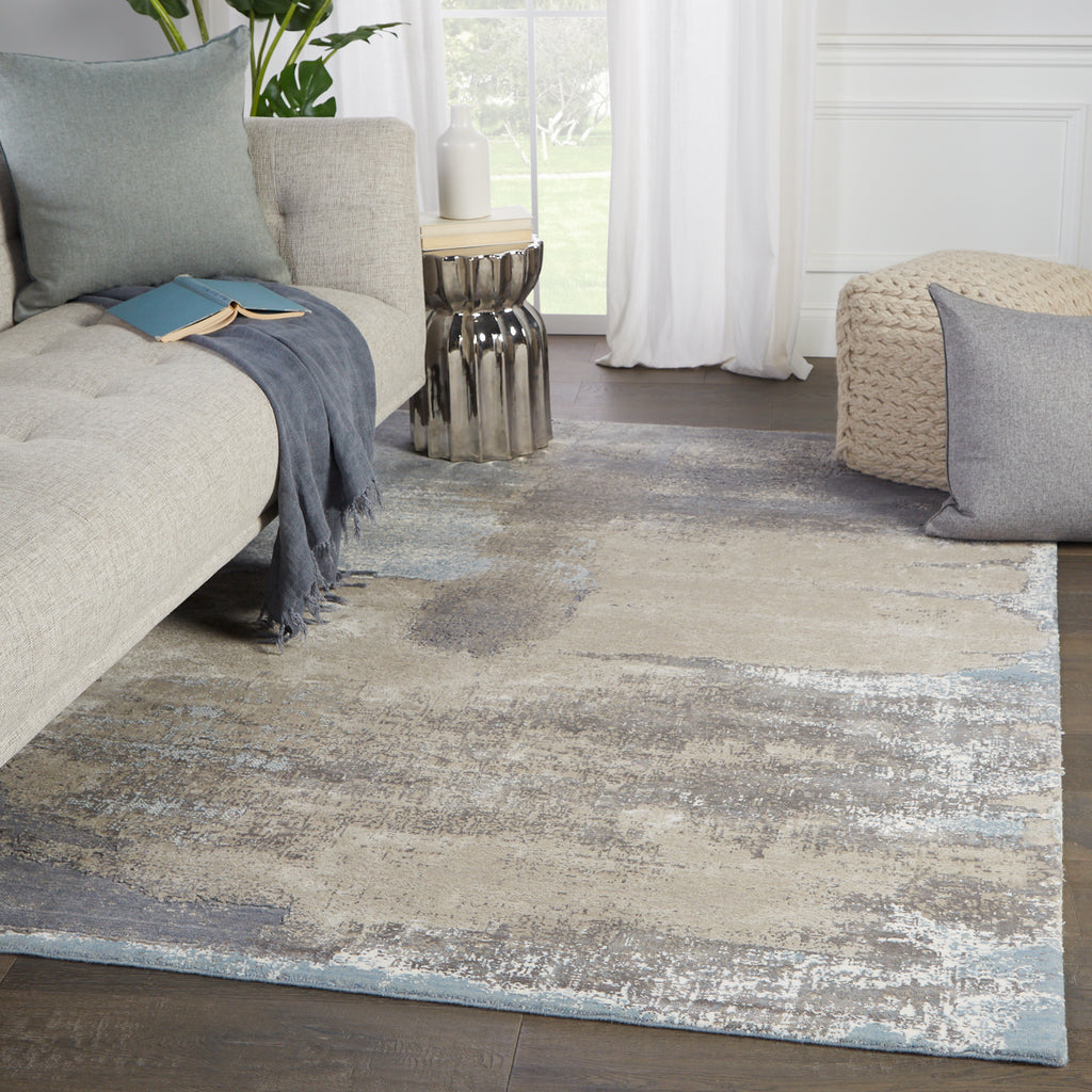 Ionian Abstract Gray & Blue Rug by Jaipur Living