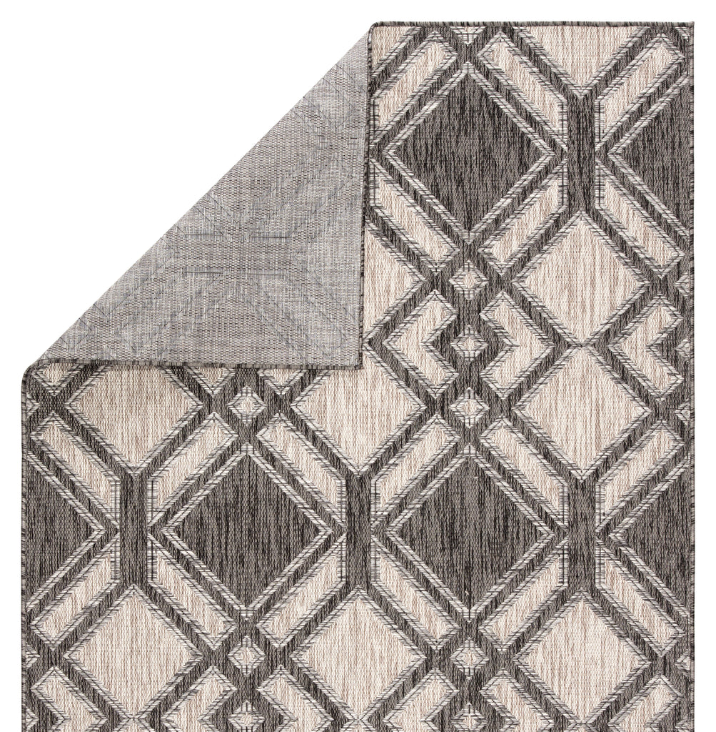 Samba Indoor/ Outdoor Trellis Black/ Ivory Rug design by Nikki Chu