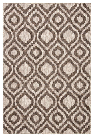 Idra Indoor/ Outdoor Trellis Ivory/ Brown Rug design by Nikki Chu