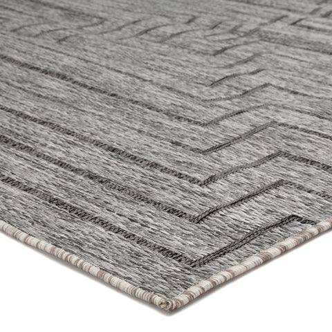 Xantho Indoor/Outdoor Geometric Gray Area Rug design by Nikki Chu for Jaipur Living