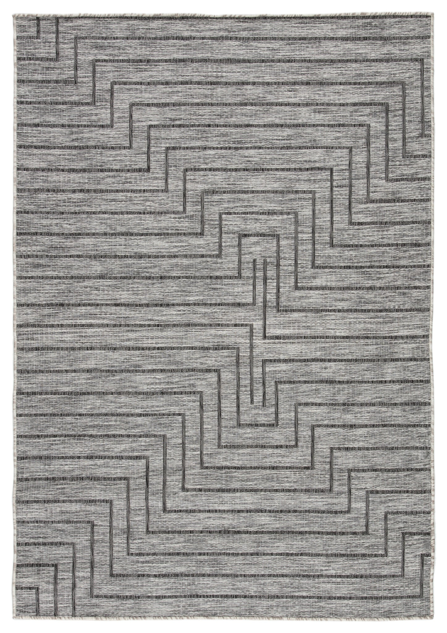Xantho Indoor Outdoor Geometric Gray Area Rug Burke Decor