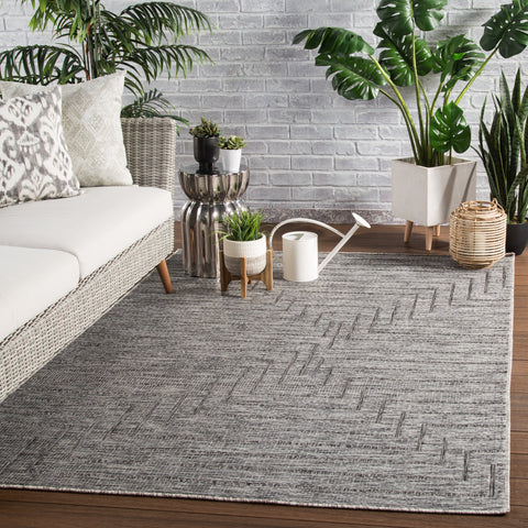 Xantho Indoor/ Outdoor Geometric Gray Area Rug