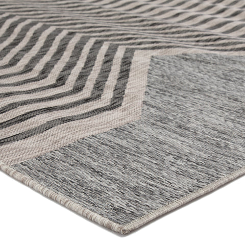 Minya Indoor/Outdoor Geometric Gray Area Rug design by Nikki Chu for Jaipur Living