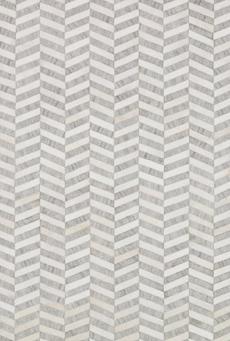 Dorado Rug in Grey & Ivory design by Loloi