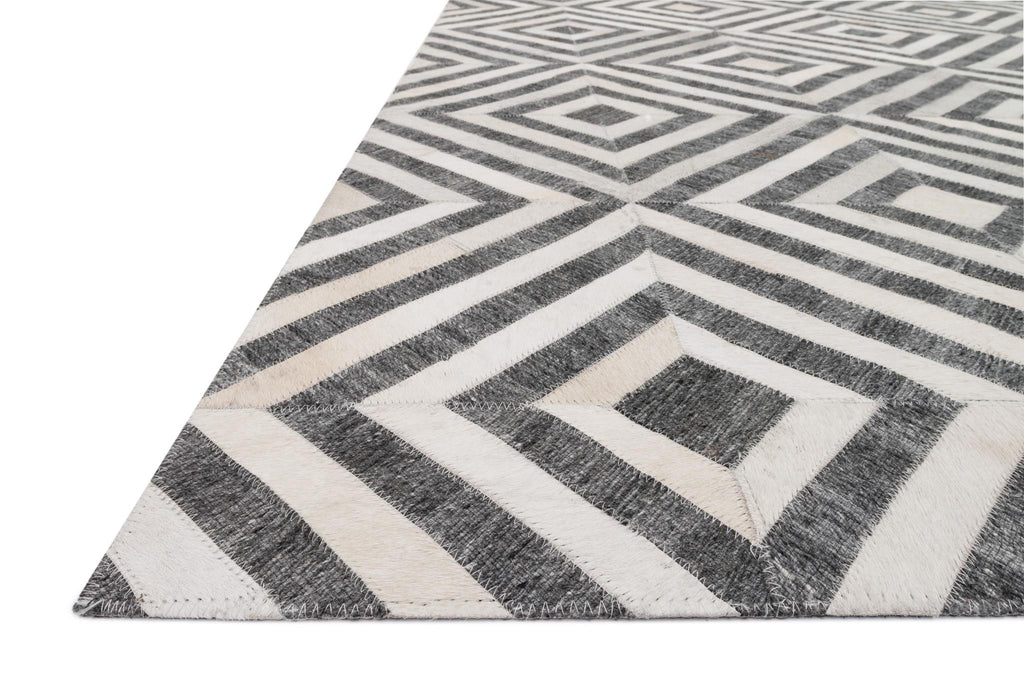 Dorado Rug in Charcoal & Ivory by Loloi