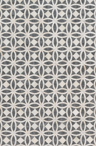 Dorado Rug in Graphite & Ivory by Loloi