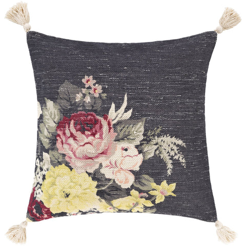 Daphne DPH-001 Hand Woven Pillow in Medium Gray & Cream by Surya
