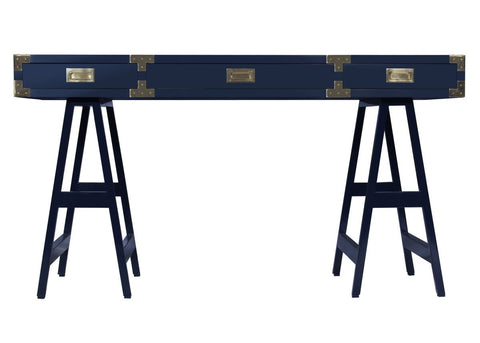 Chiba Study Desk in Navy Lacquer design by Selamat