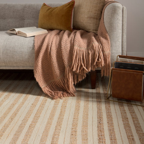 Rey Natural Striped Tan/ Ivory Rug by Jaipur Living