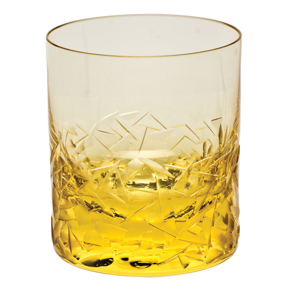 Drift Ice Double Old Fashioned Glass in Various Colors design by Moser