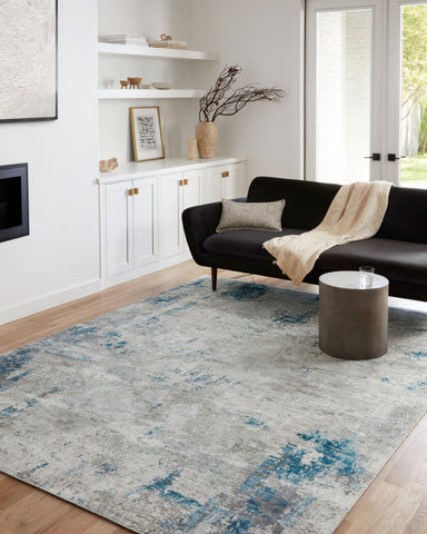 Drift Rug in Pebble / Ocean by Loloi II