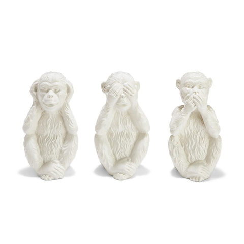 Set of 3 Hear No Evil, See No Evil, Speak No Evil Monkeys