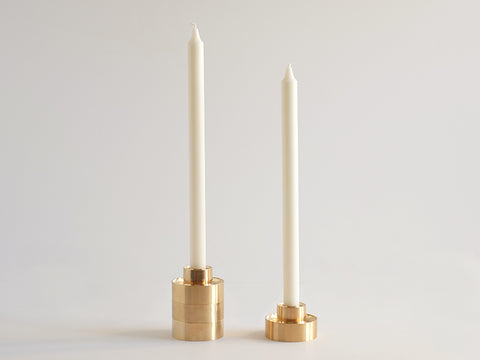 Set of 2 Stacking Candle Holder design by Fort Standard