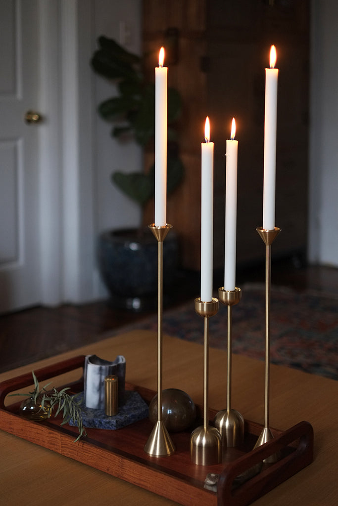 Set of 2 Dome Spindle Candle Holder in Various Sizes design by Fort Standard