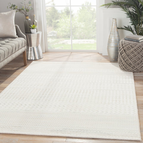 Zeal Geometric Rug in Turtledove & Silver Lining design by Jaipur