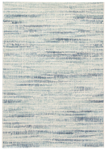 Escape Abstract Blue & White Area Rug