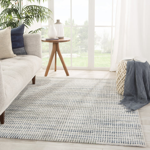 Escape Abstract Gray/ Blue Rug by Jaipur Living
