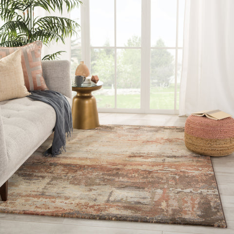 Buxton Abstract Brown/ Beige Rug by Jaipur Living